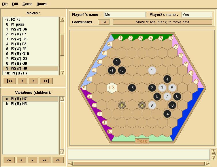 Screenshot 		of Gamedit while editing an Unlur game